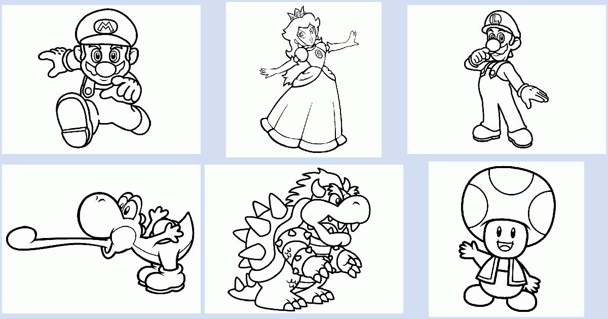 Mario Brothers Coloring Book Coloring Pages 4 U