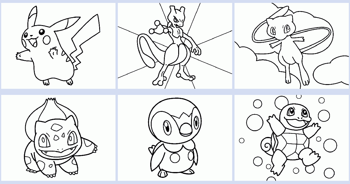 Pokemon Coloring Book Coloring Pages 4 U