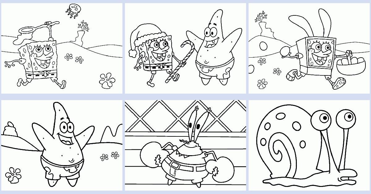 Spongebob Coloring Book Coloring Pages 4 U