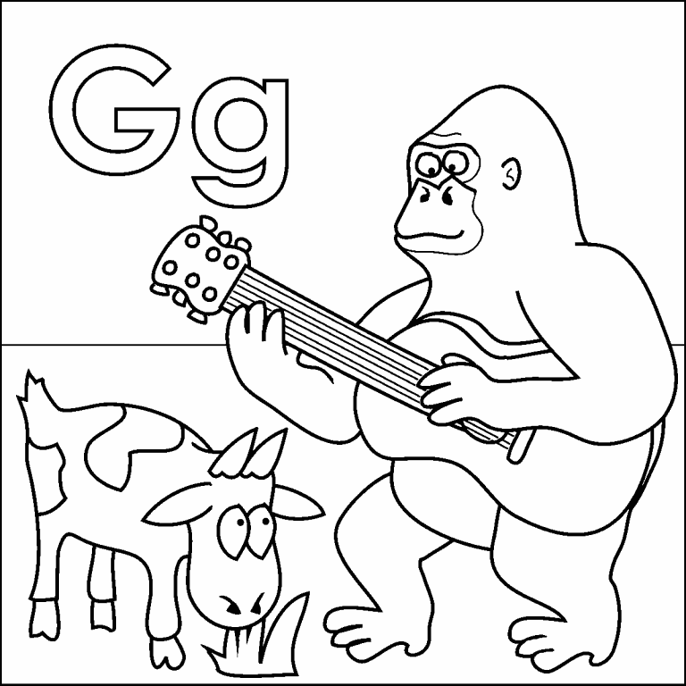 Letter G coloring page - Coloring Pages 4 U