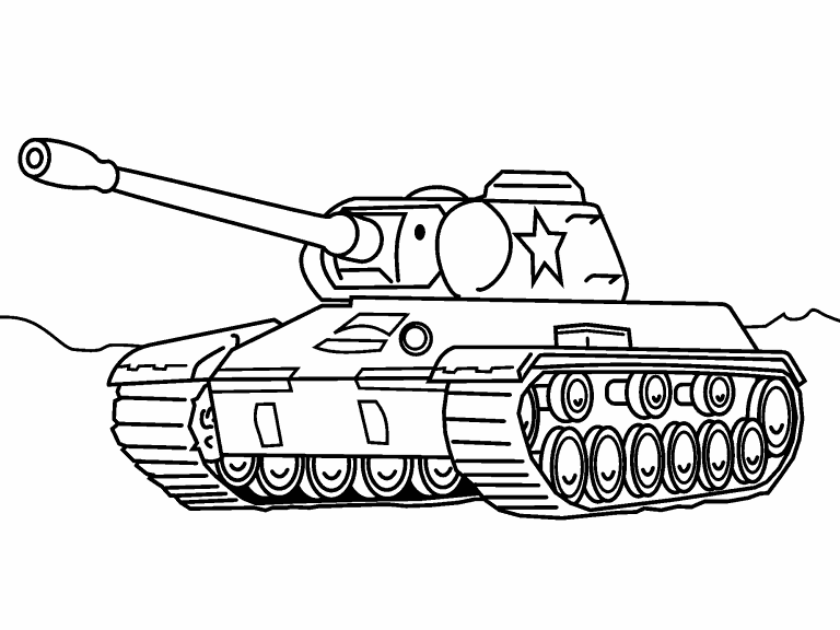 Army Tank coloring page - Coloring Pages 4 U