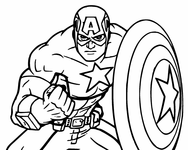 Captain America coloring page - Coloring Pages 4 U