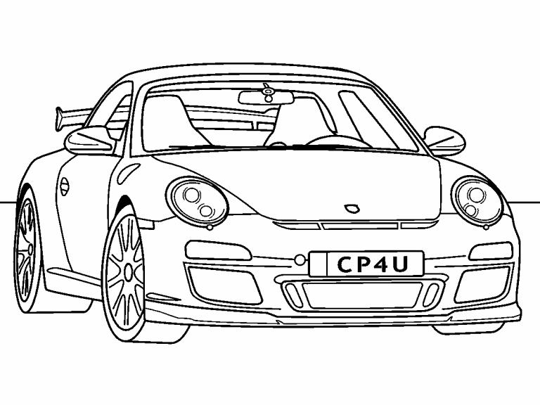 Porsche 911 Gt3 Coloring Page Coloring Pages 4 U