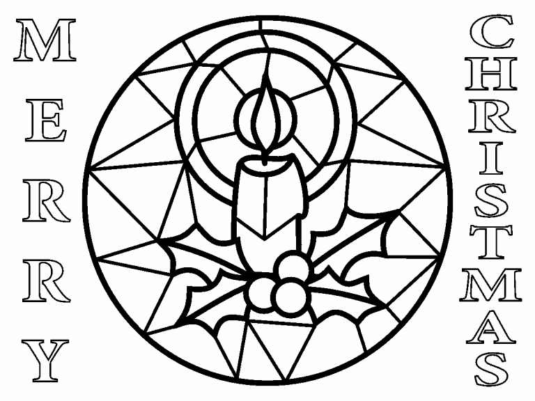 Stained Glass coloring page Coloring