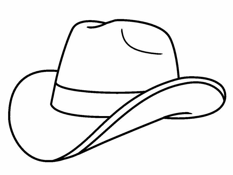 Cowboy Hat coloring page - Coloring Pages 4 U