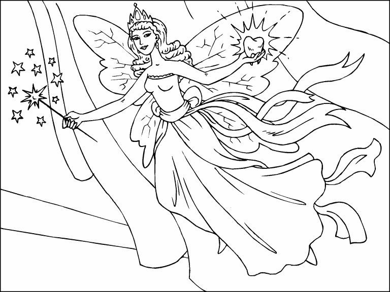 - Tooth Fairy Coloring Page - Coloring Pages 4 U
