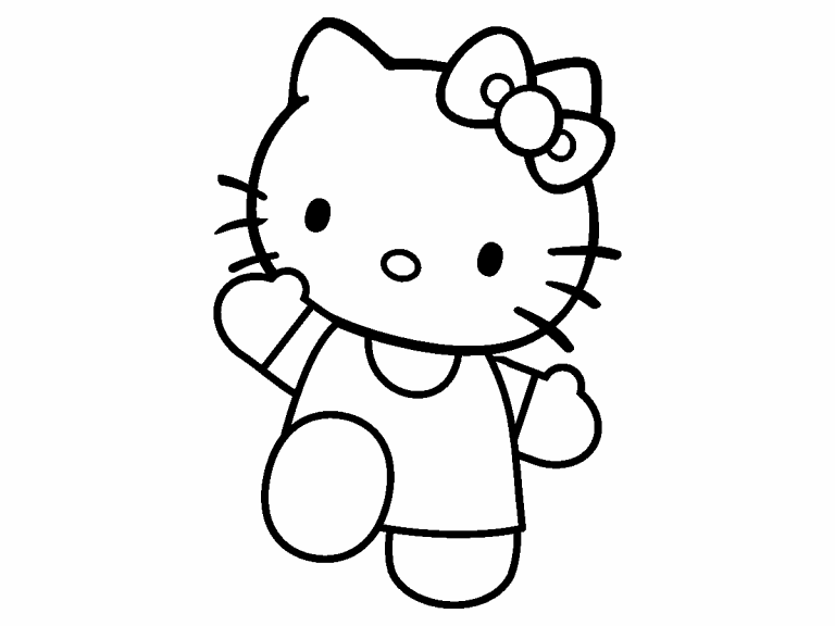 hello kitty coloring pages 4u - photo#2