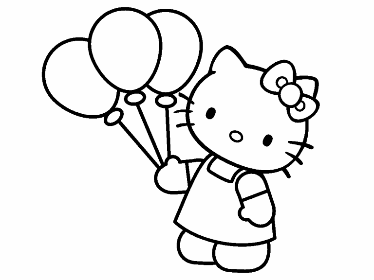 hello kitty coloring pages 4u - photo#6
