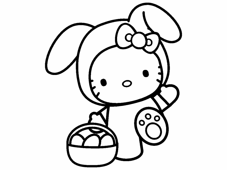 hello kitty coloring pages 4u - photo#8
