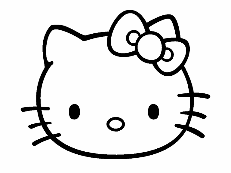 hello kitty coloring pages 4u - photo#7