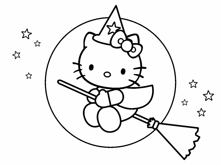 hello kitty coloring pages 4u - photo#1