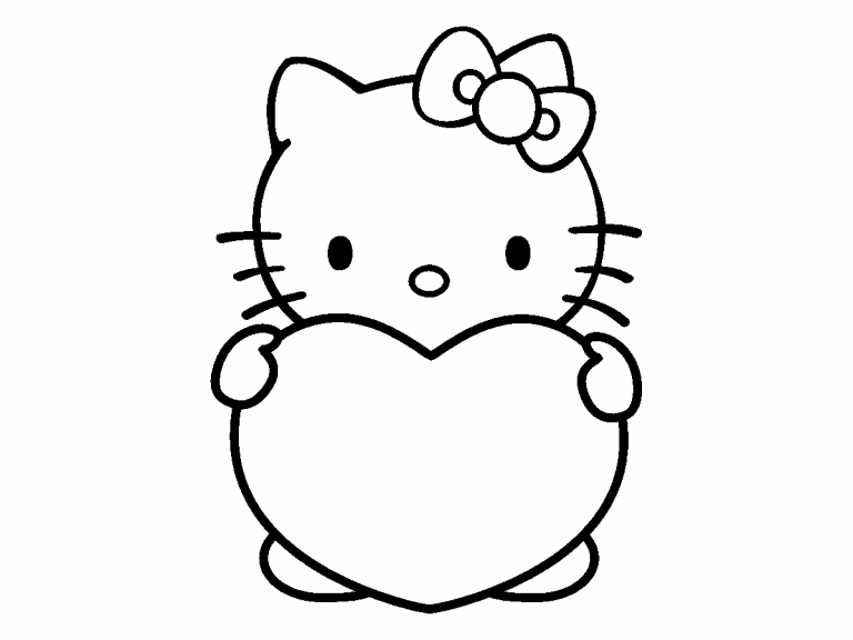 hello kitty coloring pages 4u - photo#12