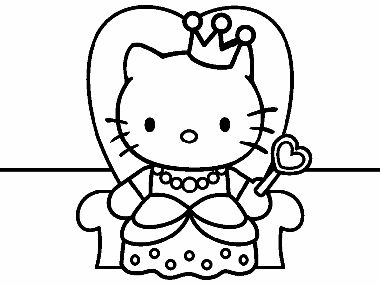 hello kitty coloring pages 4u - photo#10
