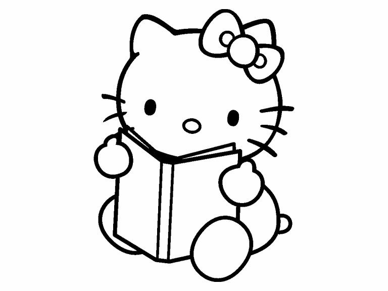 hello kitty coloring pages 4u - photo#4
