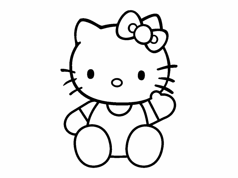 hello kitty coloring pages 4u - photo#3