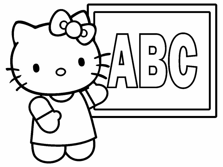 Hello Kitty Teacher coloring page - Coloring Pages 4 U