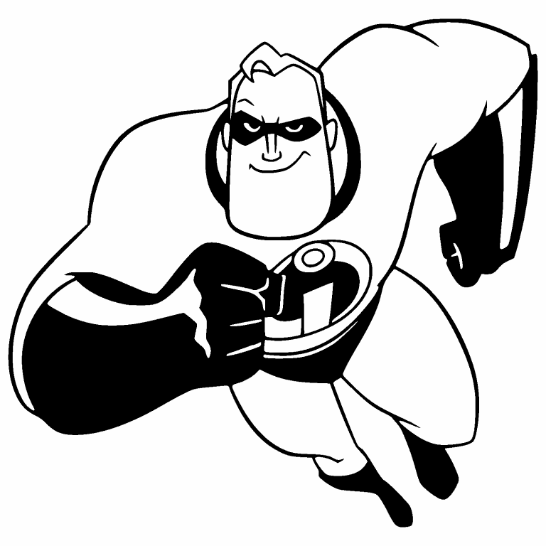 The Incredibles coloring pages | 768x768