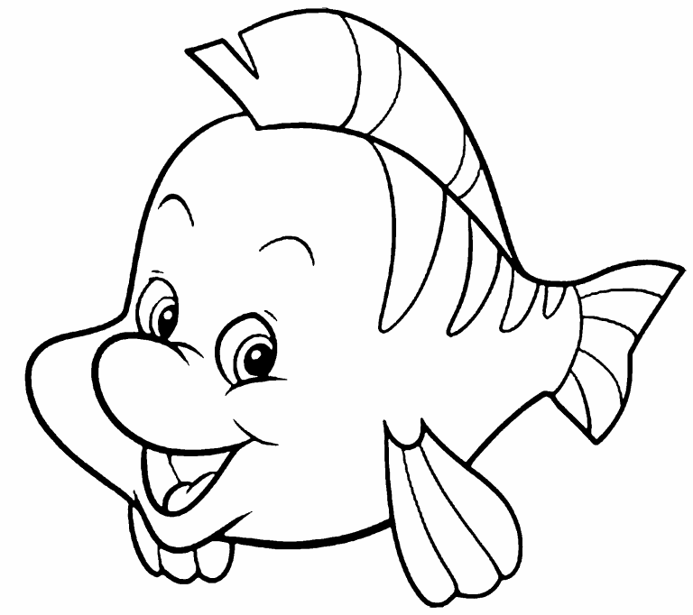 Flounder Coloring Page Coloring Pages 4 U