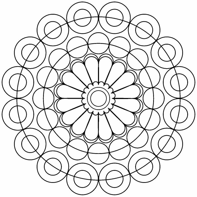 Circles Mandala coloring page - Coloring Pages 4 U