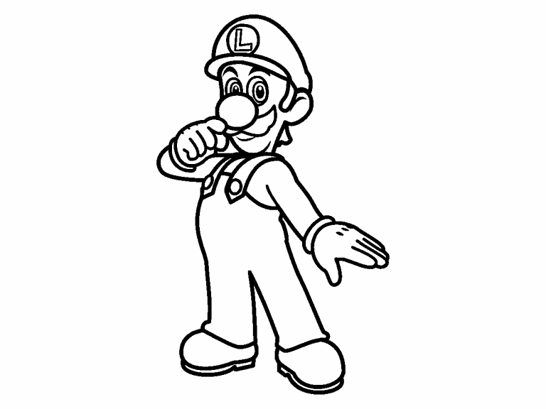 Luigi coloring page - Coloring Pages 4 U