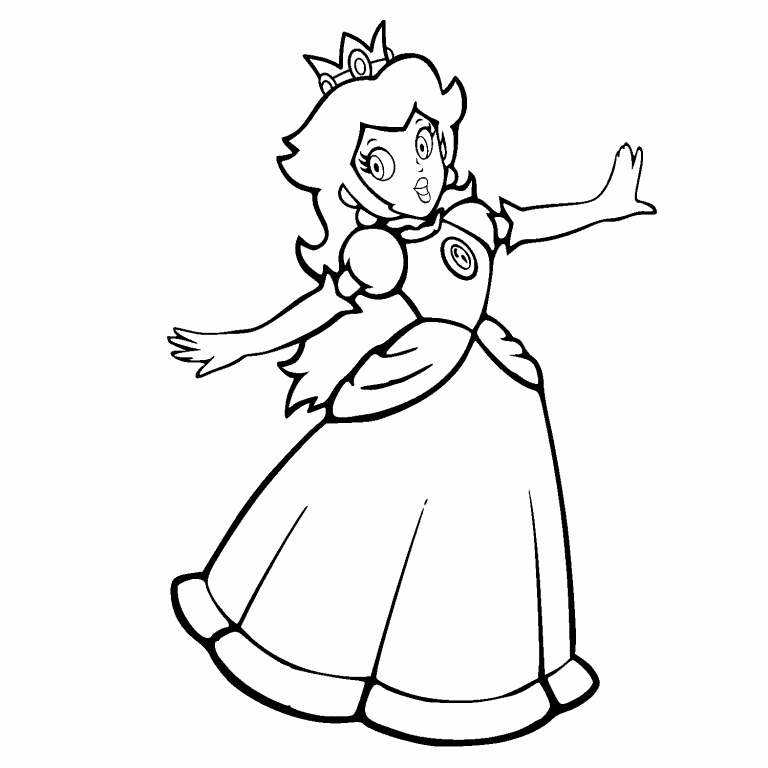 Free Coloring Page 16 Jan 2021 Princess Peach