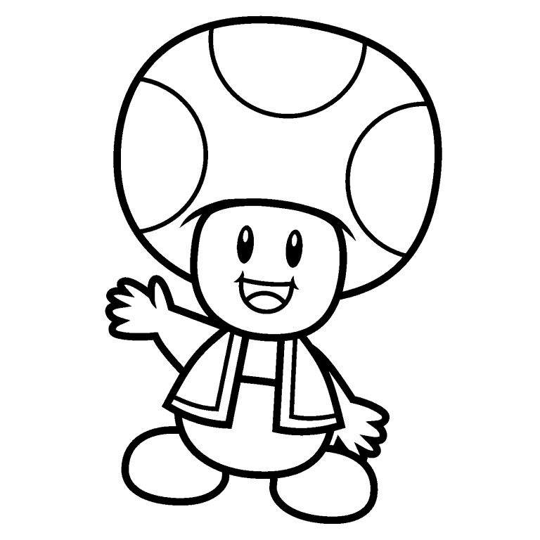 Toad coloring page - Coloring Pages 4 U
