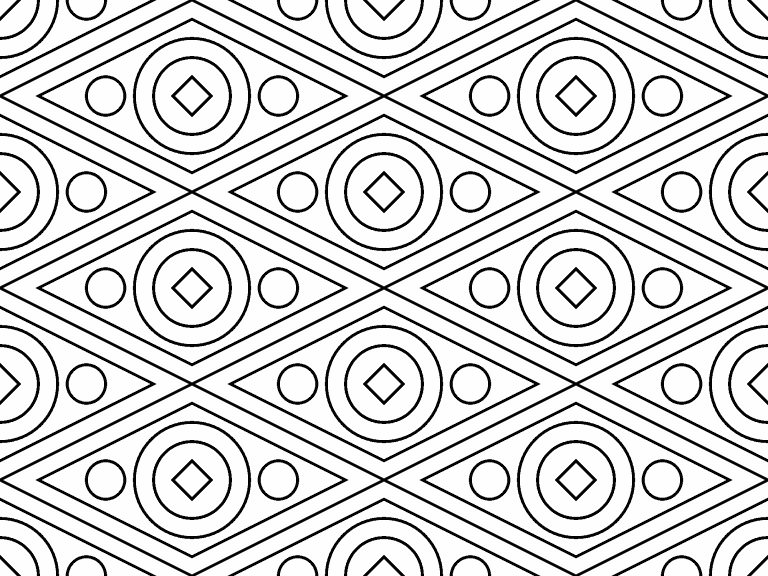 Circles And Diamonds Coloring Page