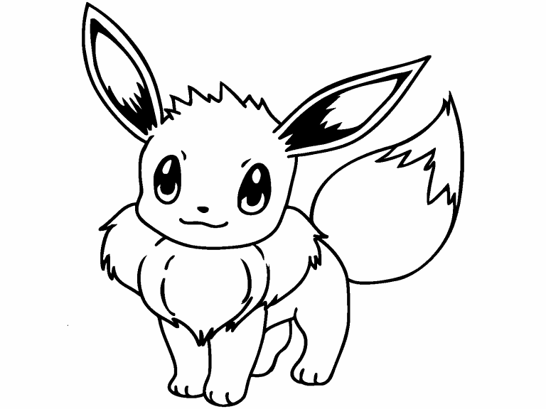 Eevee Pokemon coloring page - Coloring Pages 4 U
