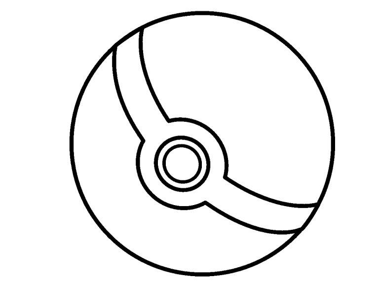 poke ball coloring page  coloring pages 4 u