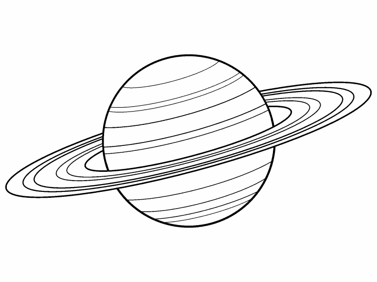 Free Coloring Page 12 Oct 2022 Saturn