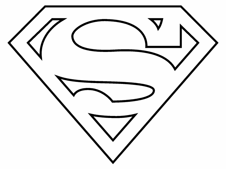 Superman Logo coloring page - Coloring Pages 4 U